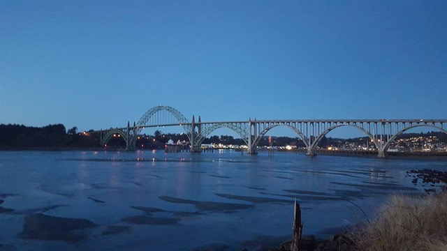 Yaquina Bay Bridge Sunday evening... Dean Sawyer photo