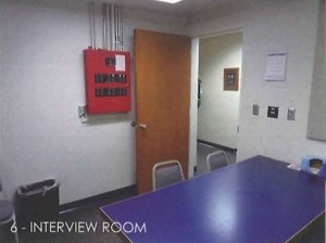 Interview room at LCPD