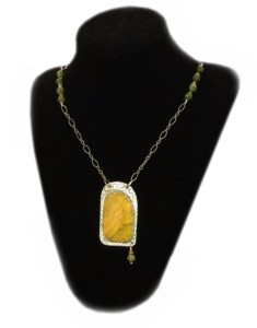 Sunflower Stone Necklace by Alita Pearl