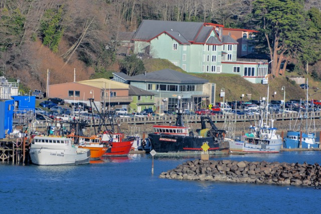 Crab boats waiting for their pots to fill up. Ken Gagne photo