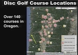 Disc Golf Courses in western Oregon...