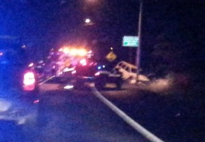 Looks like one car punched right off the road. Beatrice Ray photo