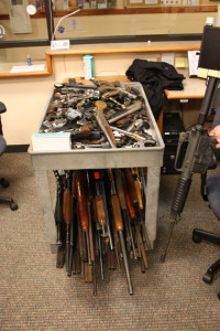 Guns turned in last year to Newport Police. NPD photo