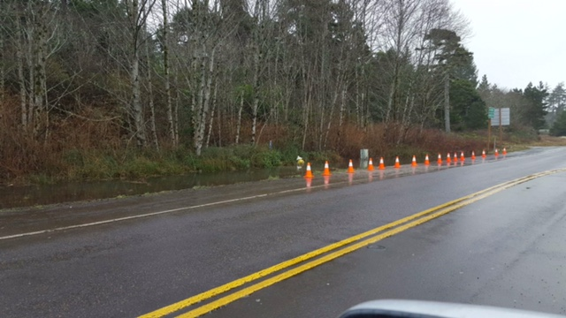 Hammered hydrant across 101 from So. Beach State Park entrance. Courtesy photo