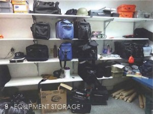 Police equipment storage
