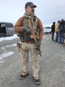 Heavily armed Idaho militiamen arrive at Malheur only to leave a few hours later.