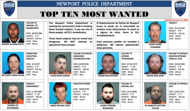 newport most wanted