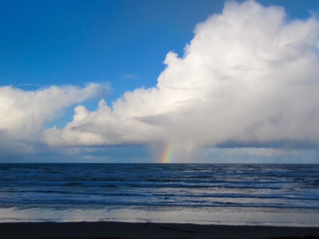 Rainbow cloud off South Beach Friday Julie Sacchetti