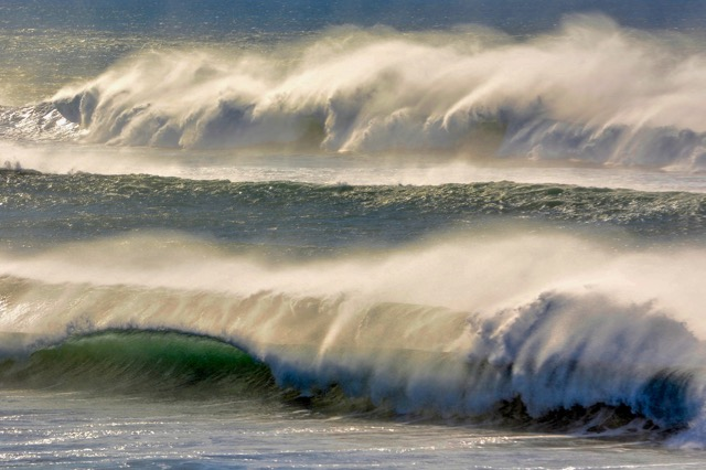 Winds were definitely blowing offshore in Yachats New Years Day Ken Gagne photo