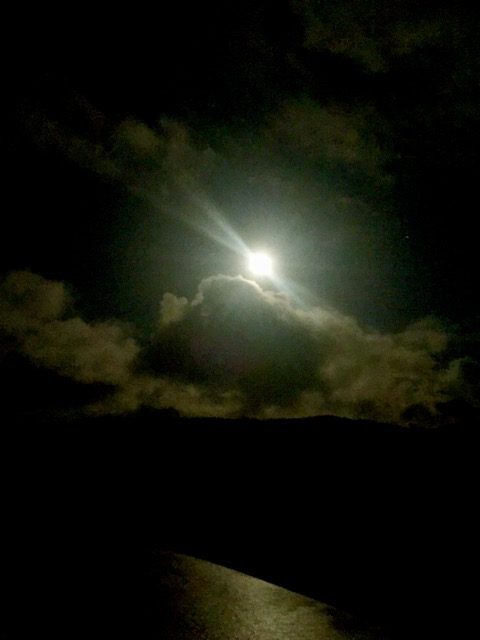 Wolf Moon over Depoe Bay Reader photo