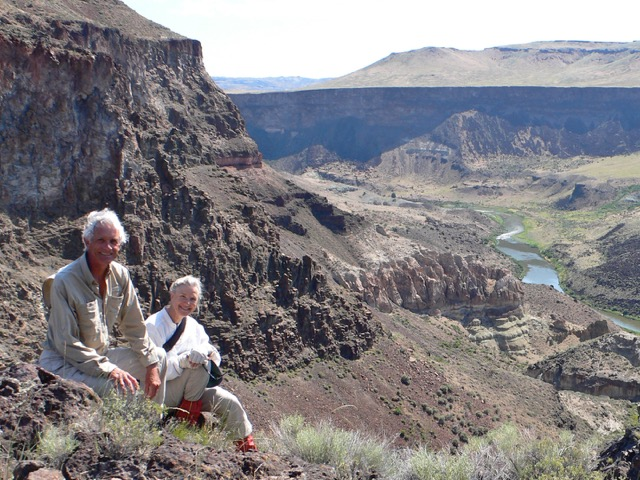 Mike Quigley & Bonnie Olin following the Owyhee River through three states...