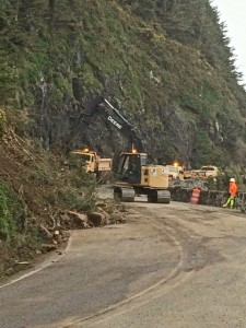 Final stages of cleaning up the pavement. ODOT photo