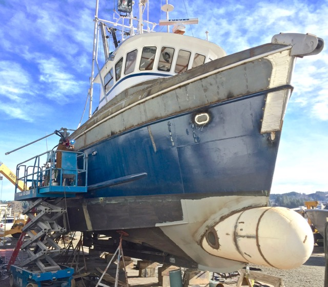 Research Vessel Pacific Surveryor Being upgraded at Toledo Boat Yard