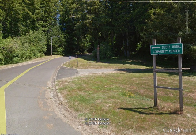 Road up to the tribal clinic. Google image archive picture.  Not taken today.