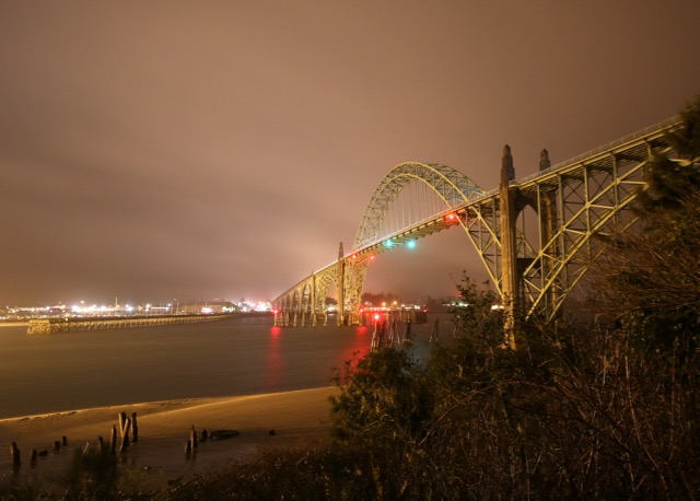 The Yaquina Bay Bridge All lit up! Kerry Terrel photo