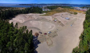 OMSI Coastal Discovery Center at Camp Gray, Newport under construction last June