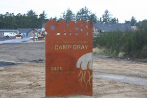 Construction near completion at Camp Gray