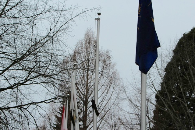 Empty flag pole - To fly the Mississippi state flag when the state adopts a new one without the Confederate emblem