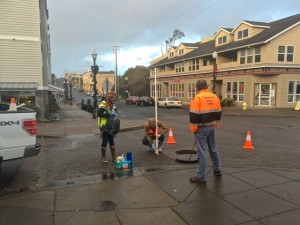 Testing to determine where sewer is infiltrating storm/ground water