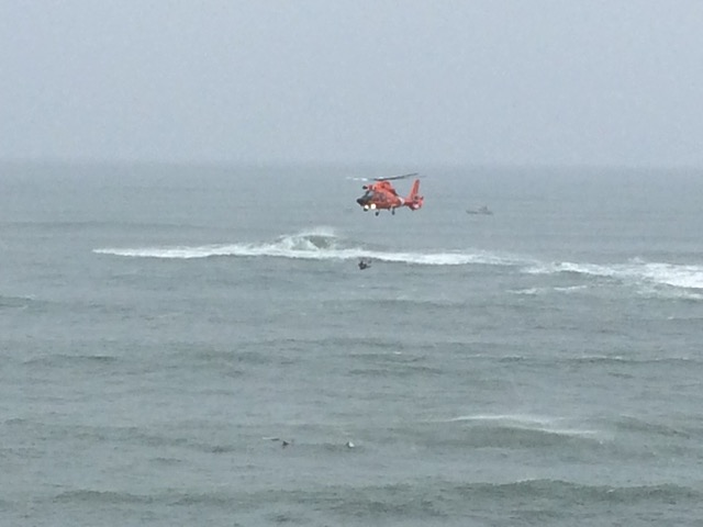 Coast Guard off Devils Punchbowl Gary Olson photo