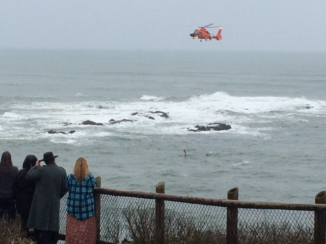 All three surfers were eventually airlifted out, leaving their surfboards behind.