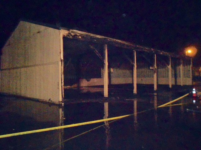 """""""The Play Shed"""" fire at Siletz Valley School was arson caused. Juveniles involved. Structure may need rebuilding."""