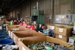 Newport Middle School students toured a giant recycling center in Salem to learn what happens after their potato chip bag goes into a recycling bin!