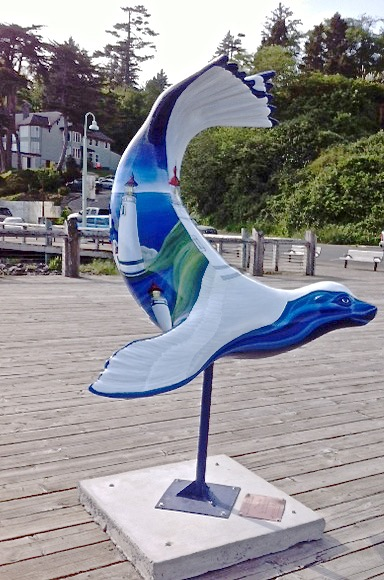 This lovely piece of art is believed commissioned by Oregon Coast Magazine!  Lovely piece  of artwork