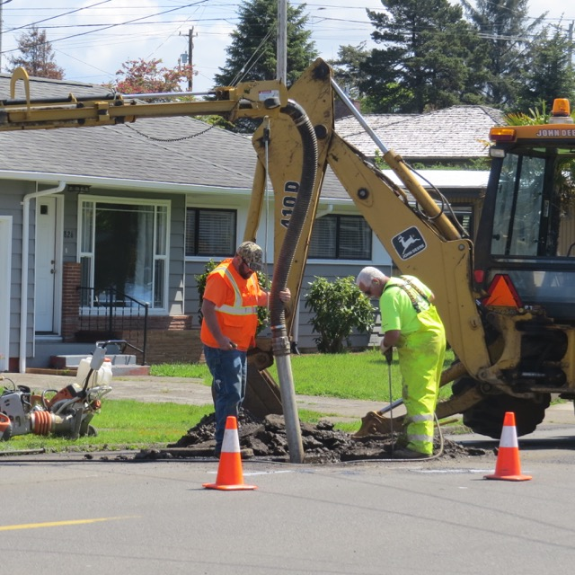 So water crews dug down to see what was what...