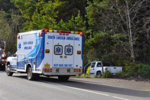 Yachats Fire-Rescue on scene of fatal accident on 101.