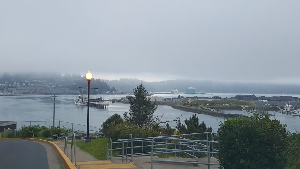 The marine layer about to swallow Toledo... Bob O'Brien photo