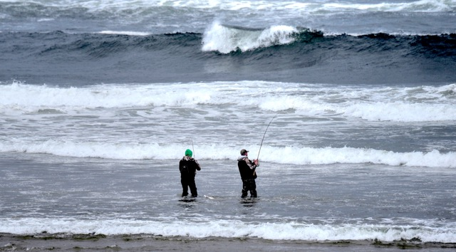 Out on Yachats Bay earning their supper. Ken Gagne