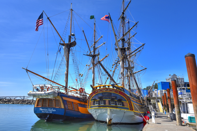 Lady Washington and the Hawaiian Chieftain on Newport's Bayfront Ken Gagne