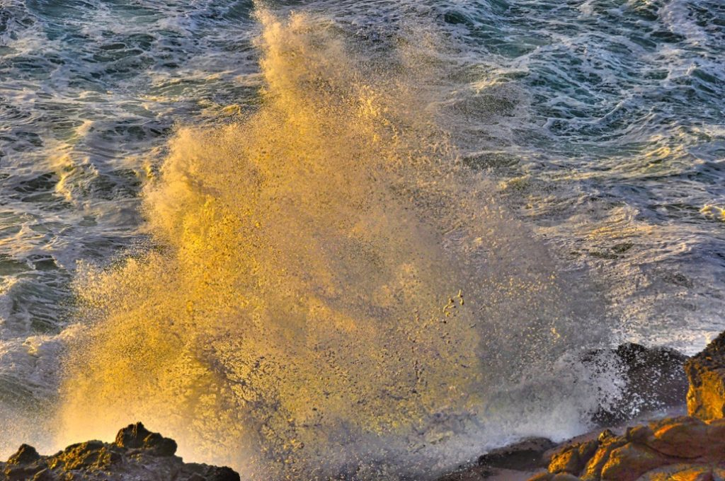 Sunset Splash Depoe Bay Tom Mock