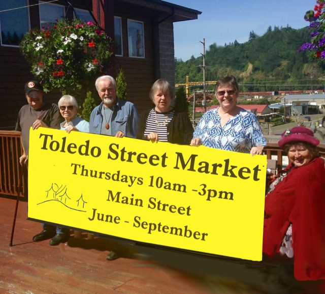 Toledo Street Market, Thursdays, 10-3, Main Street, Toledo, June-Sept.
