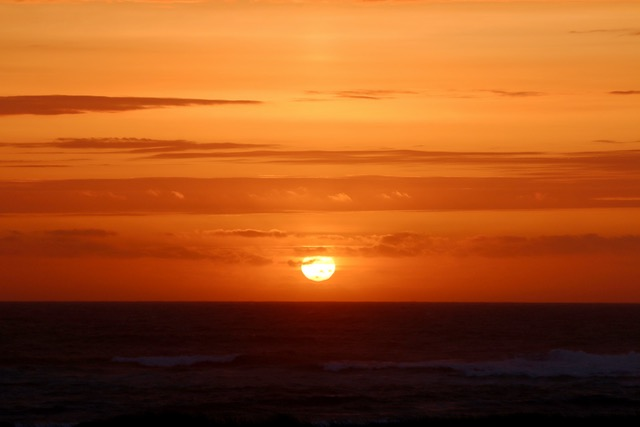 "Wonder if anybody got a ""Green Flash"" this evening. Kerry Terrel photo"