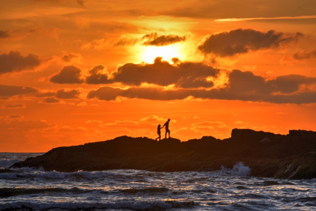 """Sunset """"on the rocks"""" Another Yachats moment Ken Gagne"""