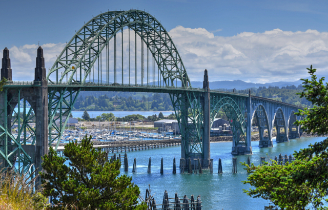 Yaquina Bay Bridge Picture perfect day! Ken Gagne