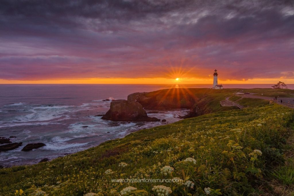 Sunset at Yaquina Head Chris F. Munoz
