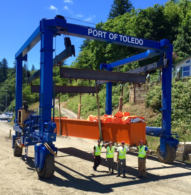 The first piece of Toledo's economic future, arrived at the Port of Toledo Tuesday!
