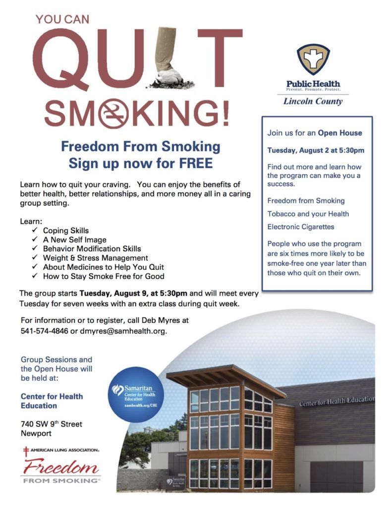 Freedom from Smoking Flyer 06.22.2016