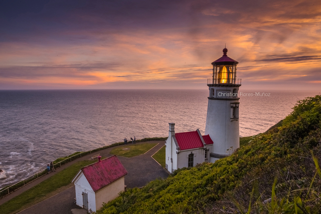Heceta Head at twilight Christian Flores-Munoz