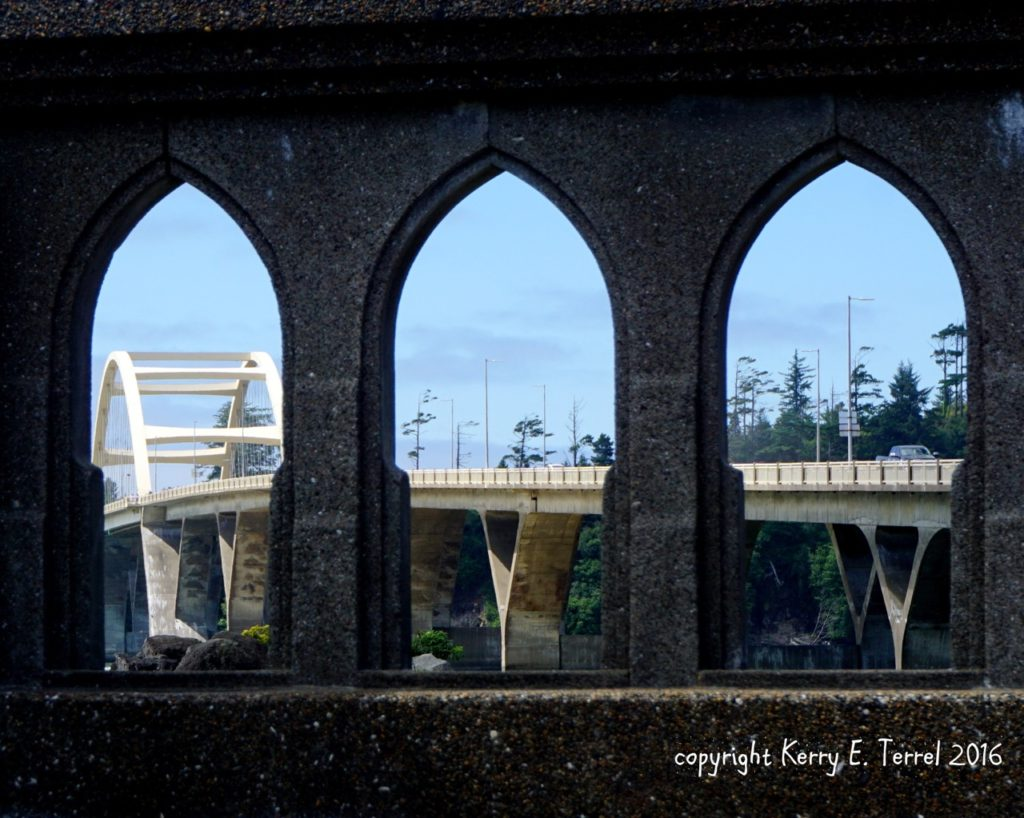 Kerry Terrel put the Alsea Bay Bridge in church...