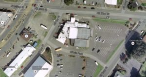 Elks Lodge: Center of photo, surrounded by a lot of asphalt. Google Maps