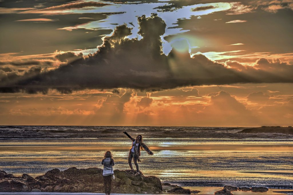 just before the sun gives it another go off Yachats. Ken Gagne
