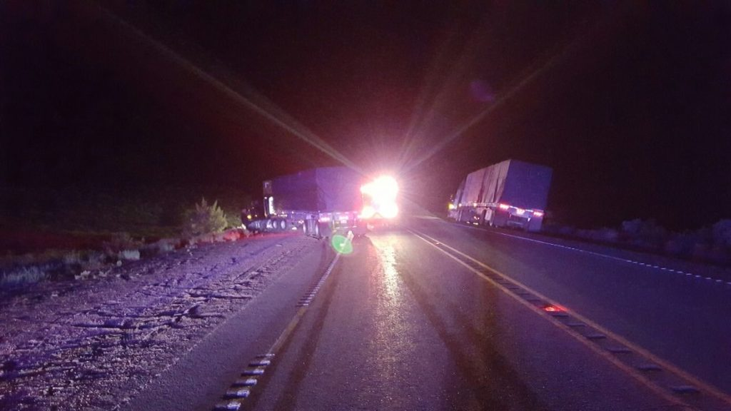 Fatal crash near Burns caused by trucker trying to pass in a no passing zone.