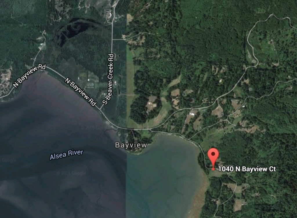 Big garage fire at 1040 n bayview court north side of for Alsea river fishing report