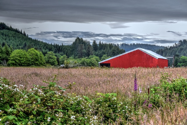 Lester Hall's old blue barn now red... Ken Gagne photo