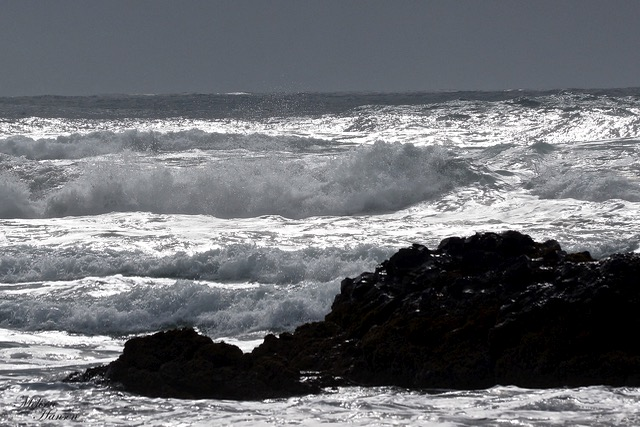 Even in near black and white the power of the sea is ever-present... Melissa Hansen photo