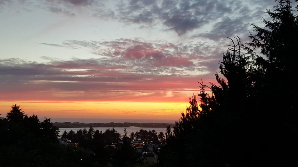 Thus ends the first day of Summer in Waldport.  Nice omen.  Bob O'Brien photo